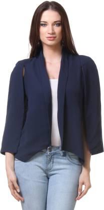 Envy Me Sleeveless Solid Women Cape Jacket