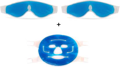 Healthllave Gift Pack | FREE Face Mask in Face Care | Cooling Gel Eye Mask (Pack of 3)