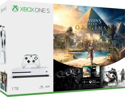 MICROSOFT Xbox One S 1 TB with Assassin's Creed Origins, Rainbow Six Siege
