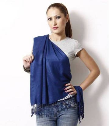 Fashion Guru Trading Cotton Blend Solid Women Shawl