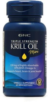 GNC Triple Strength Fish Oil Plus Krill Soft gel
