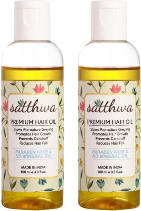 Satthwa Hair Fall Control Oil (Pack of 2) Hair Oil