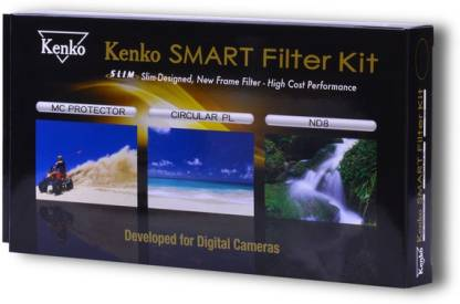 Kenko Smart Filter Kit - 82mm with MC Filter, ND8 Filter, CPL Filter with Cover Case Clear Filter