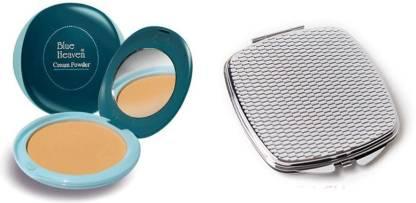 BLUE HEAVEN Cream Powder 20 GM (Natural) with Compact Mirror