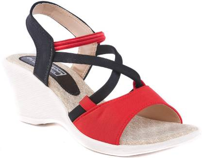 Dolphin Miles Women Red Wedges
