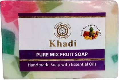 Parvati Gramodyog Khadi Mix Fruit Soap 125 gm (Pack of 1)