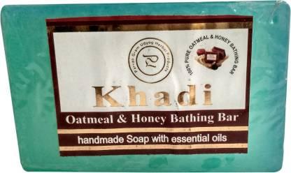 Parvati Gramodyog Khadi Oatmeal Soap 125 gm (Pack of 1)