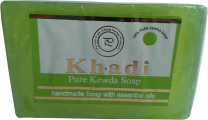 Parvati Gramodyog Khadi kewra Soap 125 gm (Pack of 1)