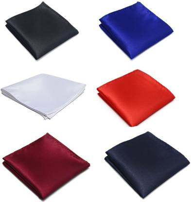 Seerat Solid Satin Blend Pocket Square