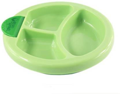 Wishpool Non-slip Baby Mealtime Warming Plate Spill Proof Suction Bowl Keep Food Warm Container Children Sucker Feeding Dish  - Plastic