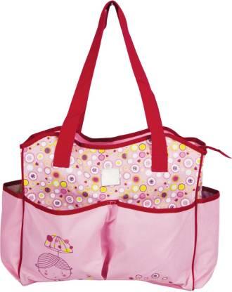 MeeMee Multipurpose Diaper Bag With Bottle Warmer & Changing Mat (Pink) Nursery Bag