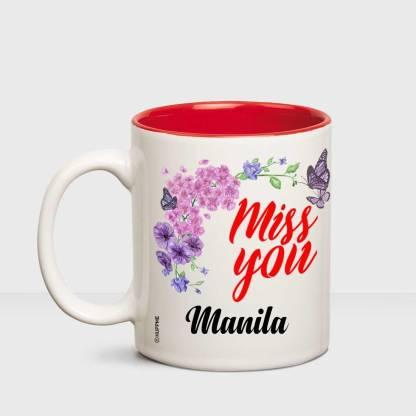 HUPPME I Miss You Manila Inner red mug Ceramic Coffee Mug