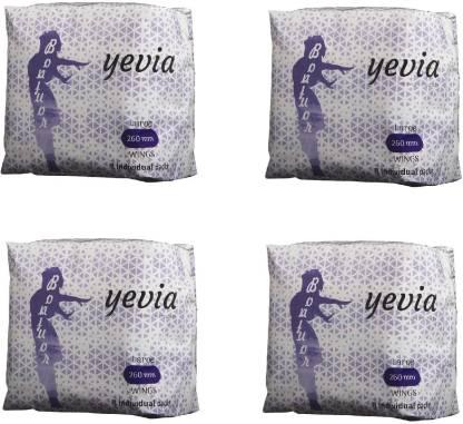 Yevia Sanitary Napkin (Anion) Combo Pack (8Pads Pack of 4) 32 Nos Sanitary Pad