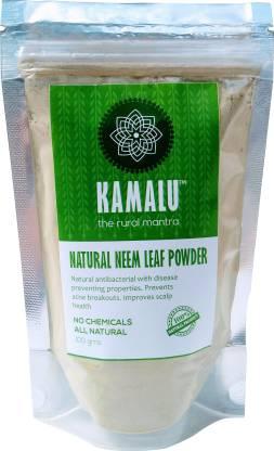 kamalu Natural Neem Leaf Powder for Skin and Hair (100 grams x 2)200 grams