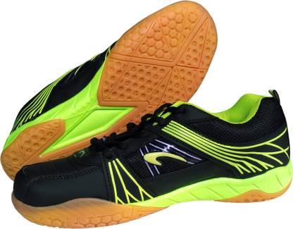 Proase BG 004 Non Marking - Black/Green Badminton Shoes For Men