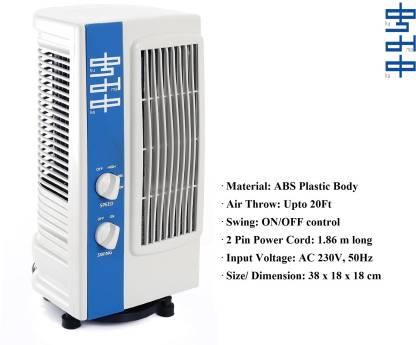 KUMAKA Oscillating Air Fresh 180 Degree Revolving Base Tower Fan