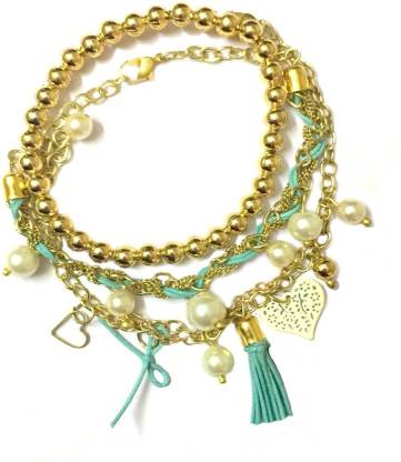 TIARAA Alloy Beads Charm Bracelet