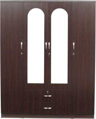 Woodness Tuscany Engineered Wood 4 Door Wardrobe