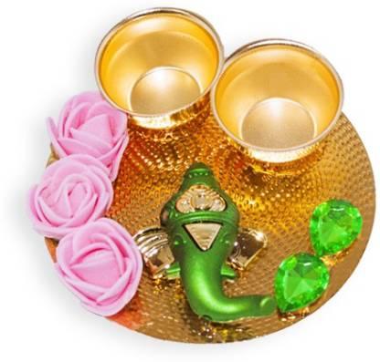 Ritwika's Ganesha Haldi kumkum Set Gold Plated