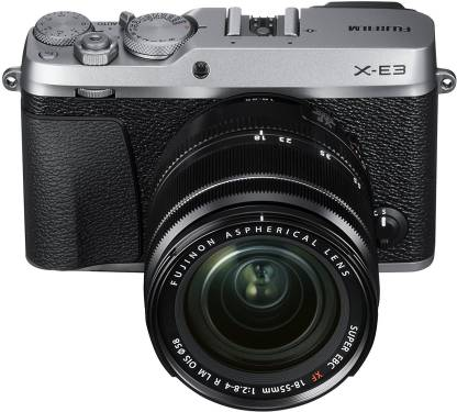 FUJIFILM X-E3 Silver with XF 18-55 mm Lens Mirrorless Camera Kit