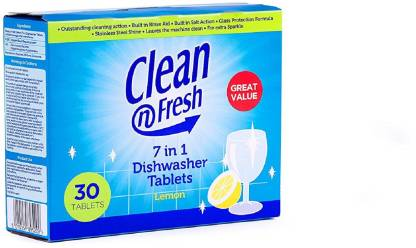Clean N Fresh 7 In 1 Dishwasher Tablets Lemon Dishwashing Detergent