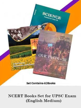 NCERT Books Set For UPSC Exam (English Medium)