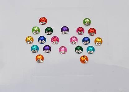CRYSTAL Fancy Bindi Girls & Ladies Multicolor Bindis