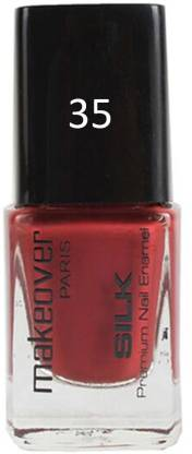 makeover PROFESSIONAL Nail Paint Red Brown-35 Red Brown-35