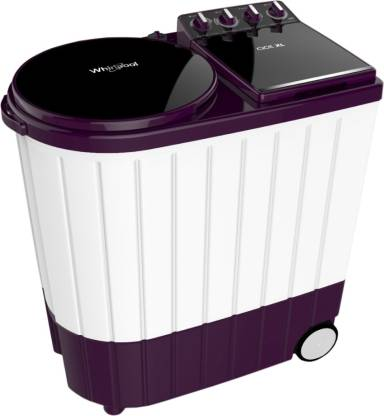 Whirlpool 9.5 kg 5 Star, Hard Water wash Semi Automatic Top Load Purple, White