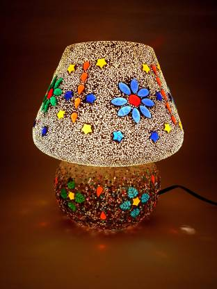 Susajjit Decor Marvelous Night Lamp Splendid work of Mosaic Art Decorative Table Lamp for Bedroom/Living Room Decoration Night Lamp