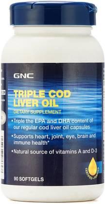 GNC Triple Cod Liver Oil Softgels