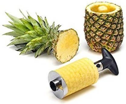 Smartcraft Stainless Steel Pineapple De-Corer Peeler Stem Remover Blades , Pineapple Fruit Slice/Cutter/Corer/Peeler (Pack of 1) NA Peeler