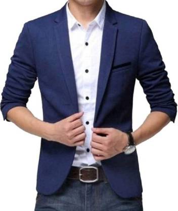 one click Solid Single Breasted Party, Casual, Wedding Men Blazer