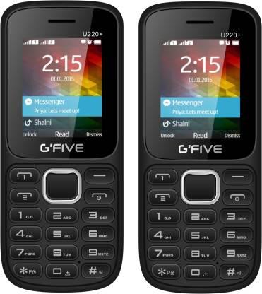 GFive U220+ Combo of Two Mobile