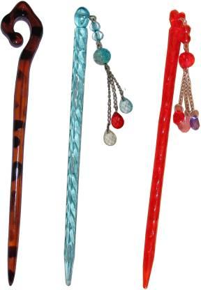 MURLI Combo of Multi Color Juda Sticks Bun Stick