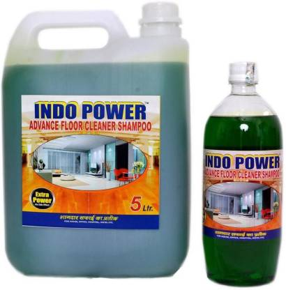 INDOPOWER ADVANCE FLOOR CLEANER SHAMPOO JASMEIN (1ltr.+ 5ltr.) COMBO PACK Stain Remover