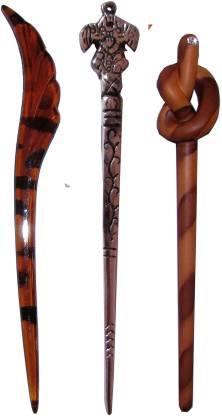 MAPPIC Combo of Multi Color Juda Sticks Hair Accessory Set