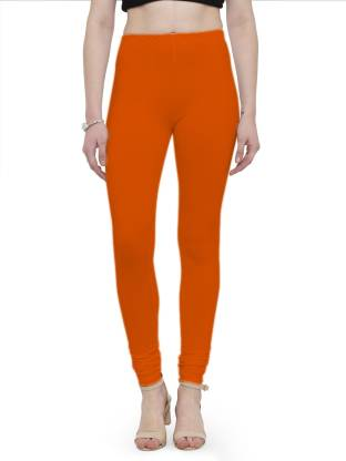 Auranova Churidar Legging(Orange, Solid)