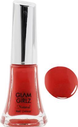 Glam Girlz Natural Stylist Peach Effect Nail Color,9 ml Flamingo