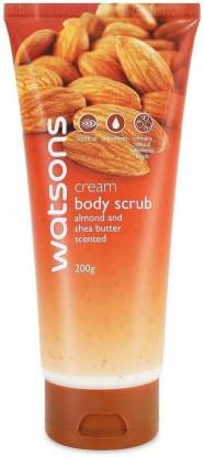 Watsons Cream Body Scrub With Almond And Shea Butter Scented - 200g Scrub
