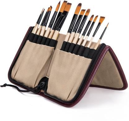 Bianyo 6 pcs Nylon Dagger Stripper Paint Brushes Set for Artist Professional New