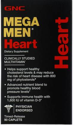 GNC Mega Men Heart Multivitamin TimedRelease Formula