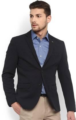 Arrow Woven Single Breasted Formal Men Blazer