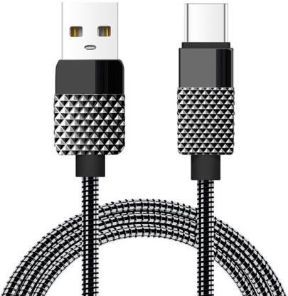 OPTA DC-002-Black-OPTA-1 1.5 A 1 m Metal Braided USB Type C Cable