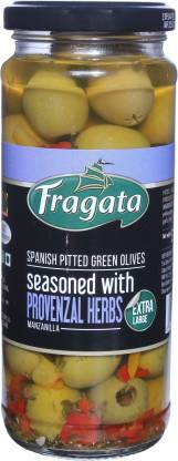Fragata Spanish Pitted (Green) Olives with Provenzal Herbs Olives & Peppers