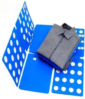 ZEVORA Adjustable Clothes Folder T Shirt Flip Fold Folding Board Fast Laundry Folder Clothing Flipfold (Blue) Plastic Clothesline