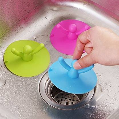 SHAFIRE Kitchen Basin Floor Drain Cover Sink strainer Plug Bathtub Silicone Stopper Home Supplies Accessories Crystal Drain Opener