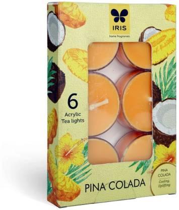 IRIS IRIS T LIGHT PINACOLADA AROMA FRAGRANCE WAX T-LIGHTS CANDLES (Set of 6) - 8002PN Candle