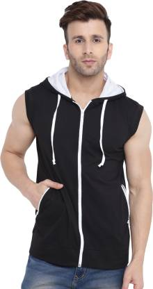 Gritstones Sleeveless Solid Men Jacket