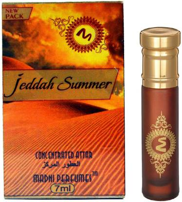 madni perfumes Jeddah Summer Exclusive Series Concentrated Attar / Ittar Floral Attar